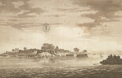 A View of  the Fort of Mongheer, upon the Banks of the River Ganges